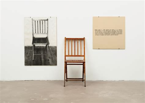 three chair bench joseph kosuth and the idea of art nicholas huggins