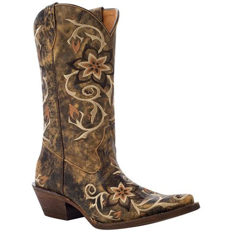 womans western boots s rocky 174 12 quot handhewn snip toe western boots