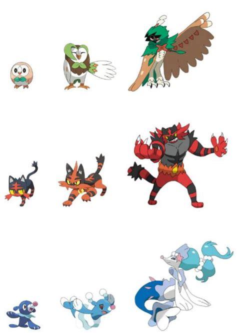 imagenes de pokemon sol y luna iniciales evoluciones finales de pokemon sol y pokemon luna