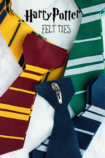 harry potter felt ties 15 ideas for a hosting a harry potter party make and takes
