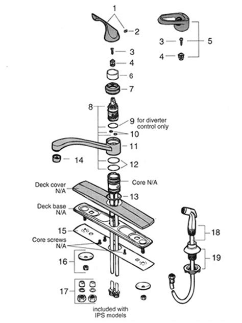 Kitchen Faucet Parts Diagram by Valley Single Handle Kitchen Faucet Repair Parts