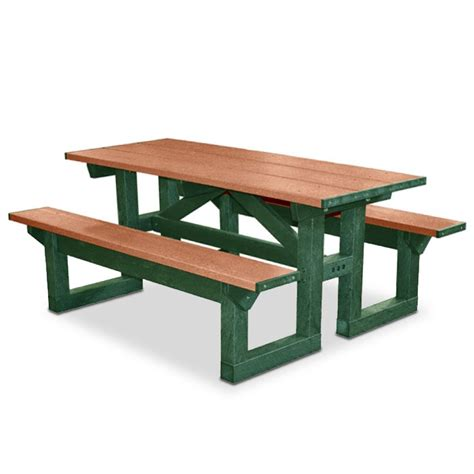 Poly Picnic Tables by Poly Tuff 6 Rectangular Picnic Table Picnic Tables