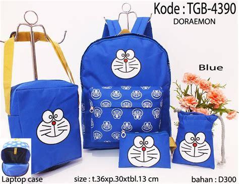 Tas Paketan Ransel Doraemon jual tas ransel doraemon set dapat 4 pcs tas tas ransel