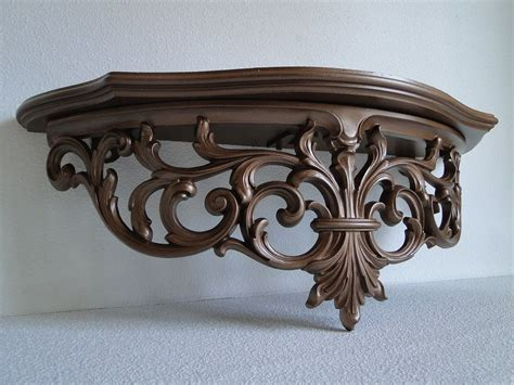 Ornate Wall Shelf by Large Shelf Ornate Baroque Regency