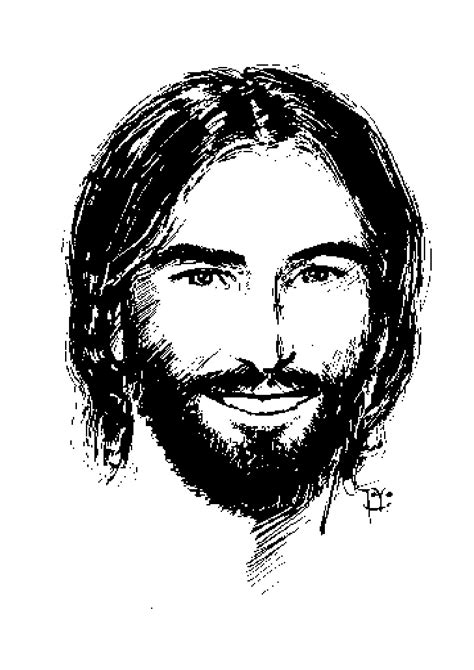 Library of jesus smiling picture library download png