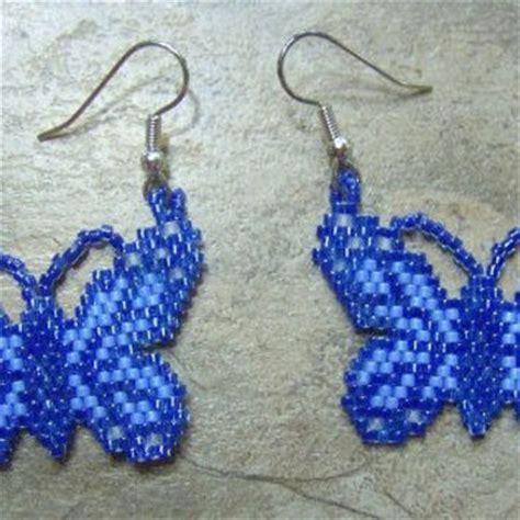 butterfly beaded earrings best seed bead butterfly products on wanelo