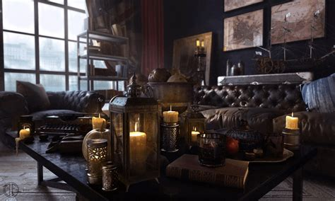 cyberpunk home decor steunk interior design where old meets new
