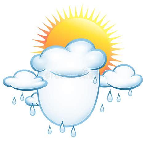 clipart pioggia nubi e pioggia e sole illustrazione vettoriale