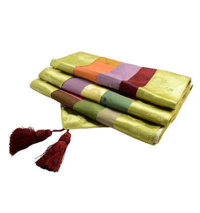 chemin de table asiatique chemin de table vert tissu ramie asiatique