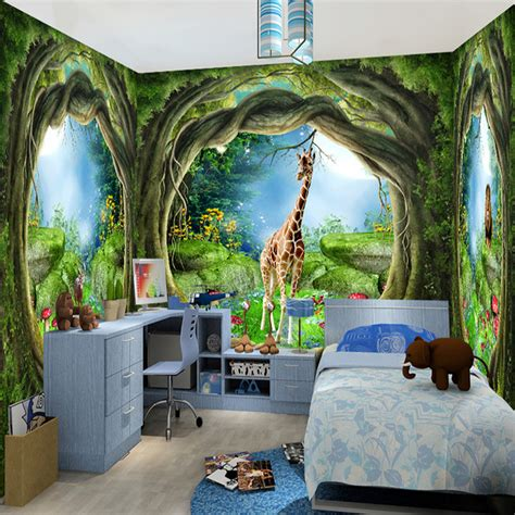 3d stereo fantasy fairy forest tree animal house theme