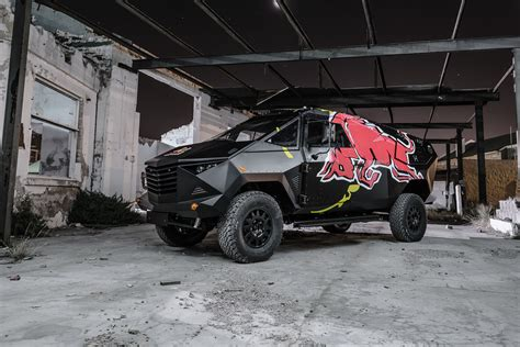 Auto Logo Roter Stier by Red Bull Reveals Quot Armored Quot Event Vehicle With Stealthy