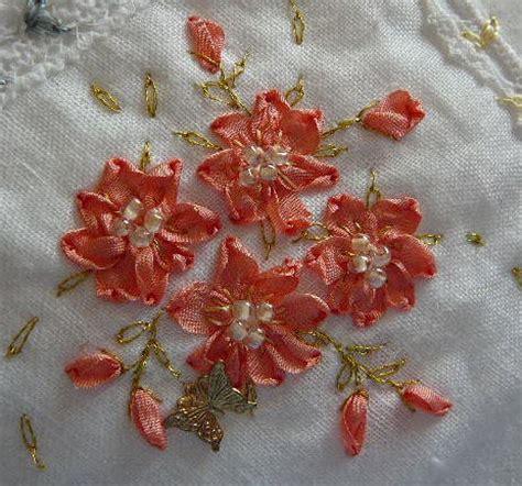 flower design with ribbon silk ribbon embroidery free sre design ribbon stitch