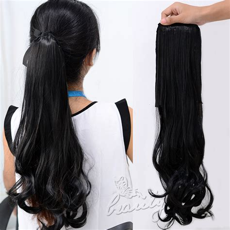 ombre african american ponytails pieces ombre clip in ponytail pony tail hair extension wrap on