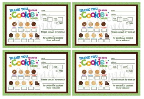 scout cookie receipt template 2018 scout cookie thank you order form receipt