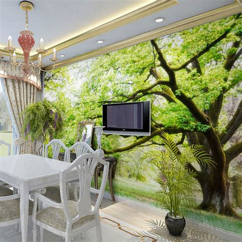 3d wallpaper decor for home aliexpress com buy forest wood landscape trees photo