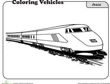coloring page bullet train train coloring page worksheets children s and bullet