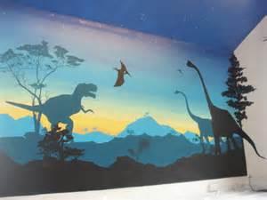 Dinosaur Wall Mural dinosaurs boys bedroom wall mural artwork david