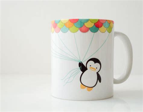 cute cup designs cute mug penguin image 359815 on favim com