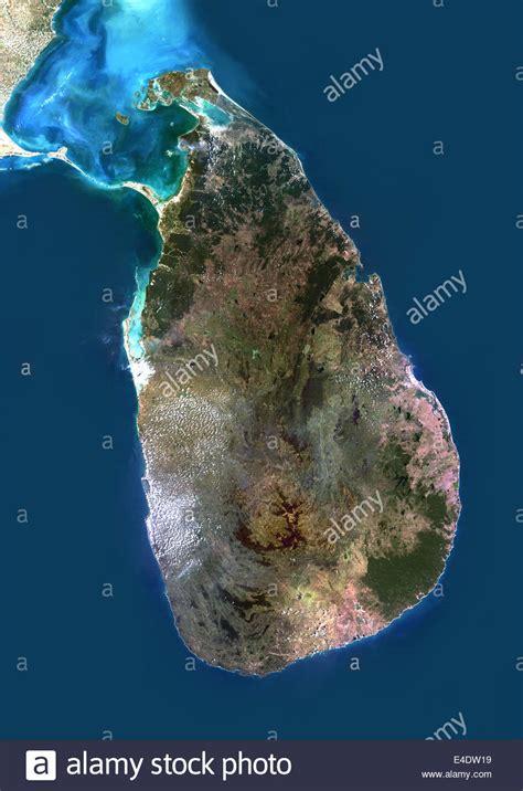 sri lanka satellite map sri lanka asia true colour satellite image satellite