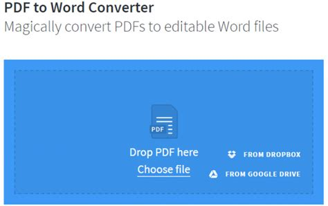convert pdf to word big file 6 free online services for converting pdf documents to
