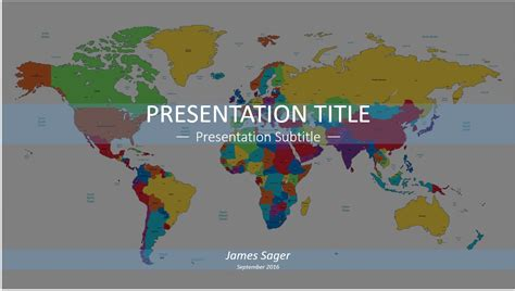 world map powerpoint template free world map powerpoint