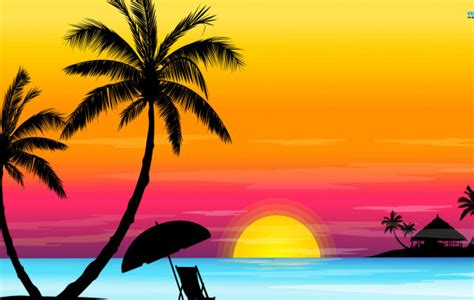 wallpaper cartoon beach cartoon beach sunset wallpaper