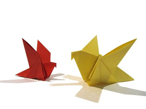 Paper Origami Bird - easter origami bird easy origami tutorial how to make