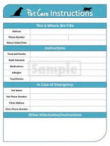 pet sitting templates pet care pet sitter printable and editable