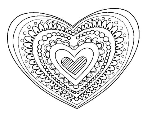 mandala coloring pages hearts 1000 images about coloring pages for adults on