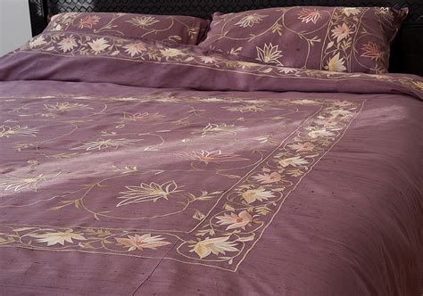 indian bed covers kashmir amethyst indian silk duvet cover natural bed