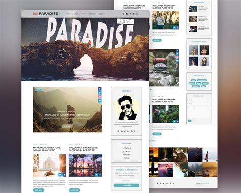 travel blog template free psd at downloadfreepsd com