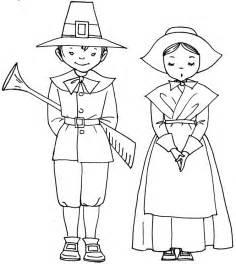 pilgrim color free pilgrims coloring pages