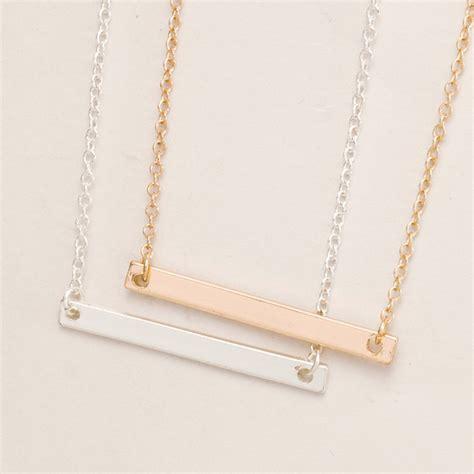 fashion jewelry tiny sideways bar necklace set lariat