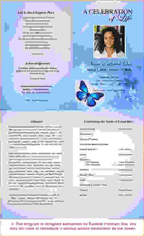 6 free funeral program templateagenda template sle