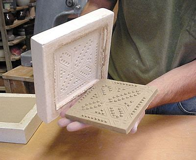 How To Make Handmade Tiles - multiples cavity molds for handmade ceramic tiles