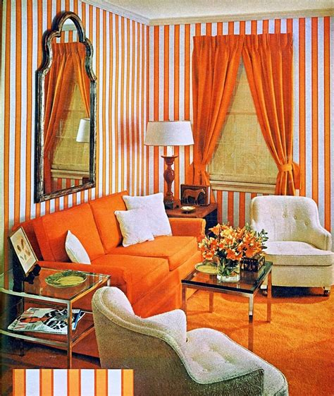 what s is new again orange painted walls furniture