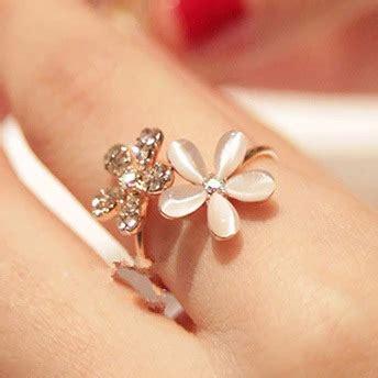 Cincin Emas Berlian Bunga New products jual aksesoris wanita aksesoris cincin