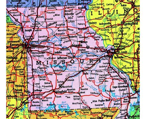 map of missouri usa maps of missouri state collection of detailed maps of