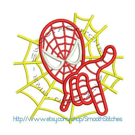 spiderman embroidery pattern spiderman hand applique design for by embroiderycorner on