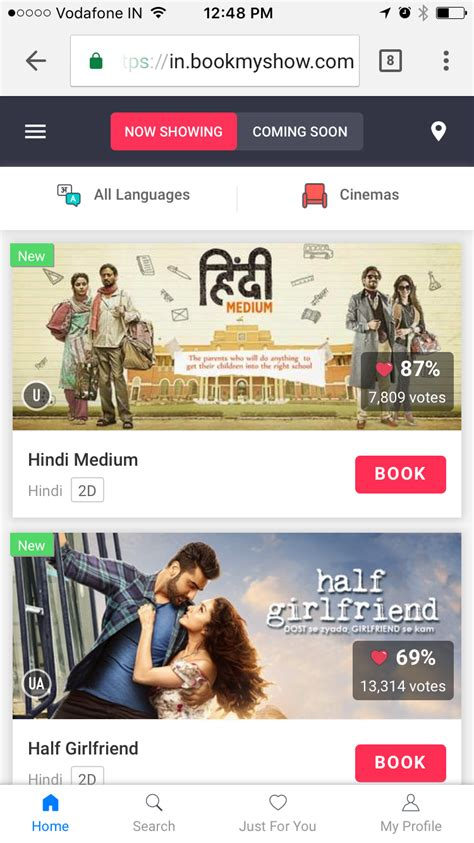 bookmyshow yourstory book movies without the app bookmyshow launches its pwa