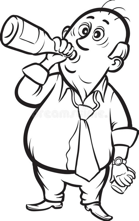 imagenes para dibujar sobre el alcoholismo whiteboard drawing businessman drinking alcohol stock
