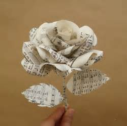 Rose Vases Music Sheet Paper Rose By Suzi Mclaughlin