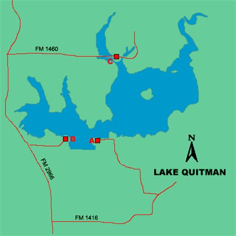 quitman texas map lake quitman access