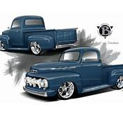 A 1952 Ford F 1 &amp Pro Touring Chevy Truck  Radical Renderings