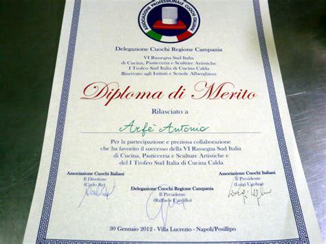 diploma alberghiero cucina gastronomia arf 232 attestati e titoli gastronomia arf 232