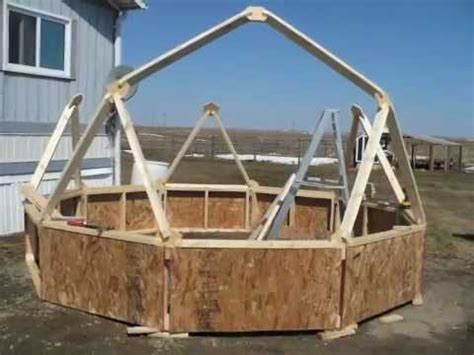 Geodome House by Diy Building A Geodesic Dome Greenhouse Homemade Youtube