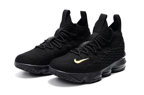 lebron basketball shoes sale 2018 nike lebron 15 pk80 all black basketball shoes on