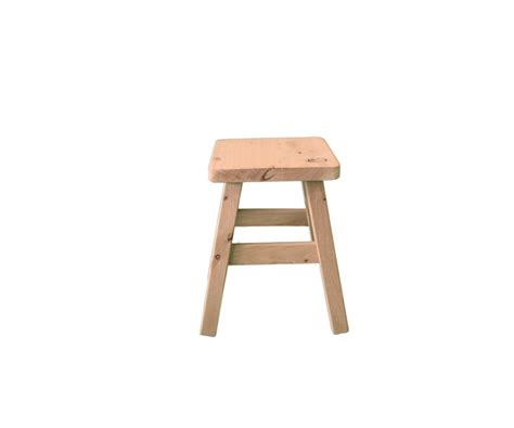 small square stool side table
