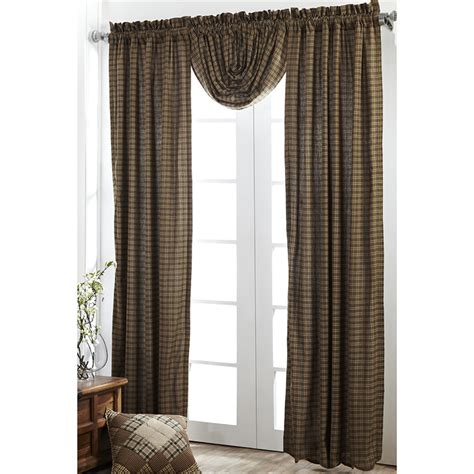 plaid drapes barrington plaid curtains pair www
