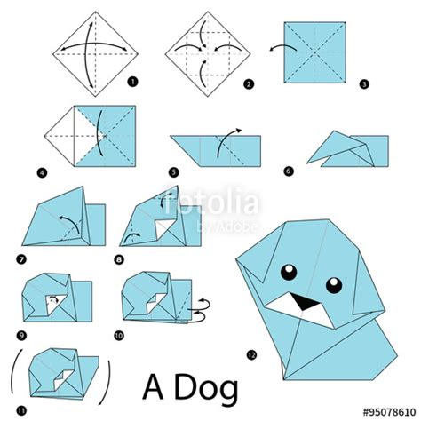 Cool Origami Step By Step - quot step by step how to make origami quot stock